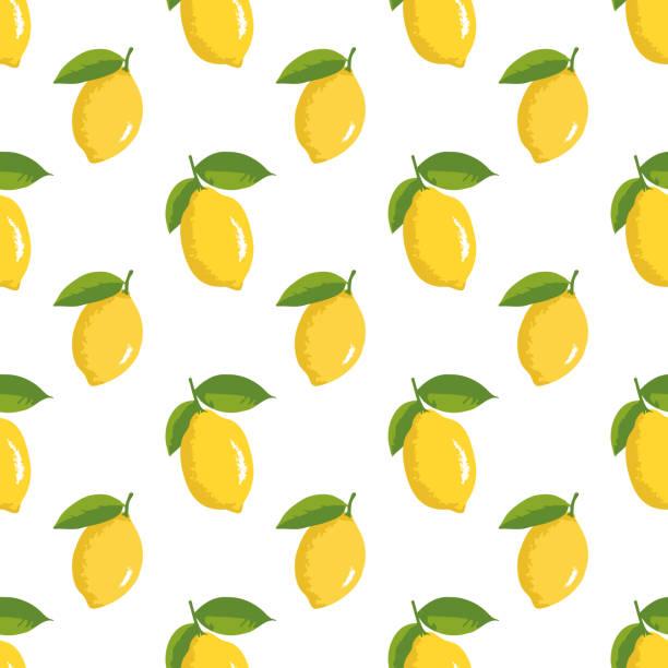 レモンとベクトル夏パターン。シームレス テクスチャ デザイン。 - レモン点のイラスト素材/クリップアート素材/マンガ素材/アイコン素材