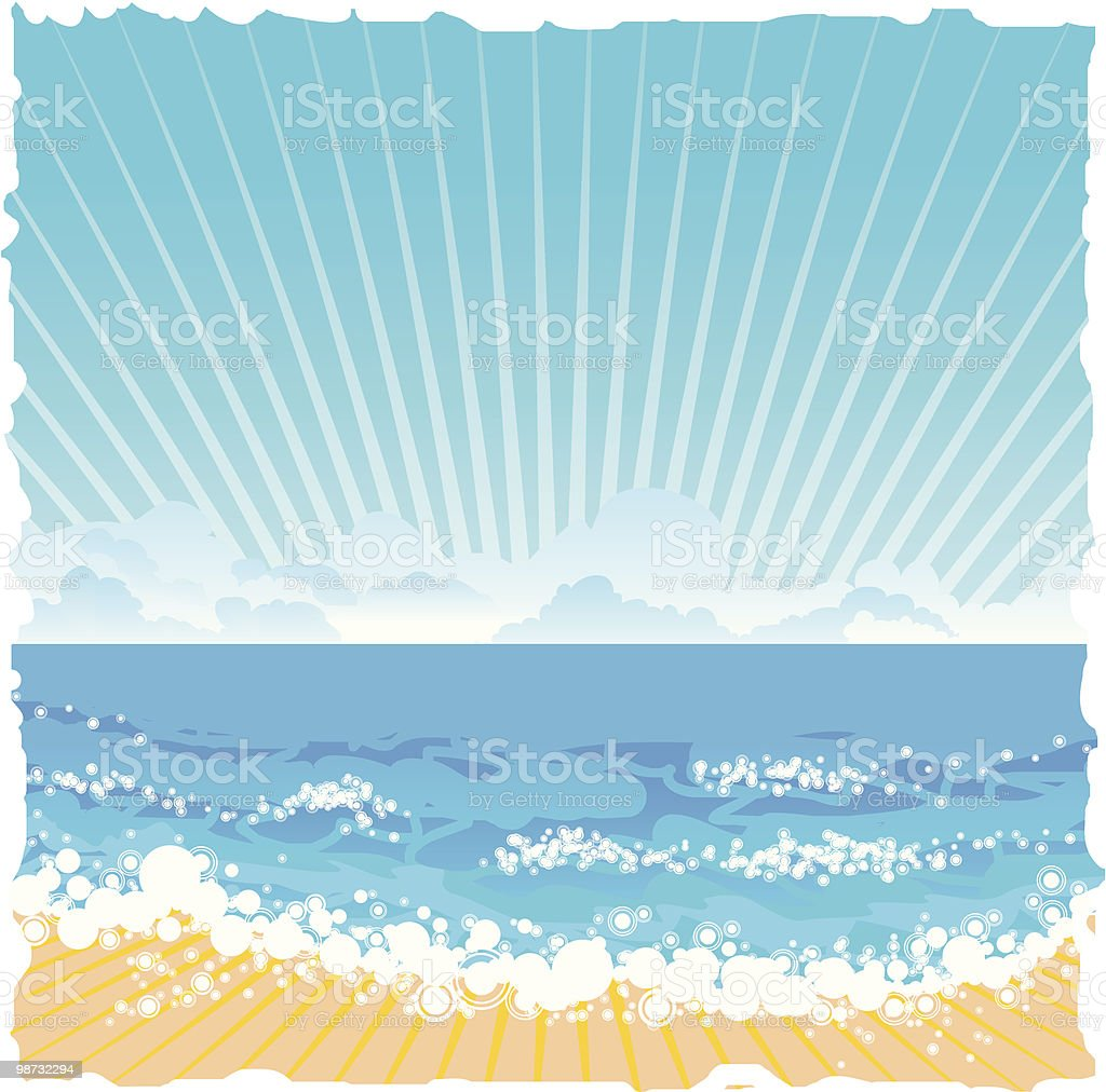 vector summer sea royalty-free vector summer sea stock vector art & more images of abstract