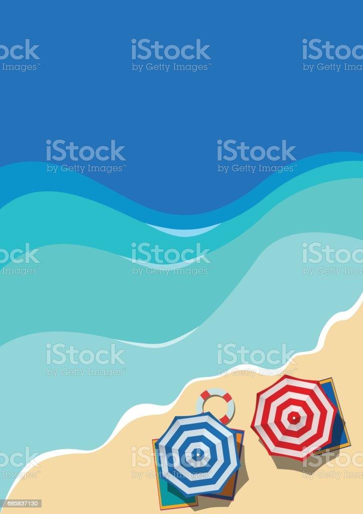 Vector Summer vertical Background vector art illustration