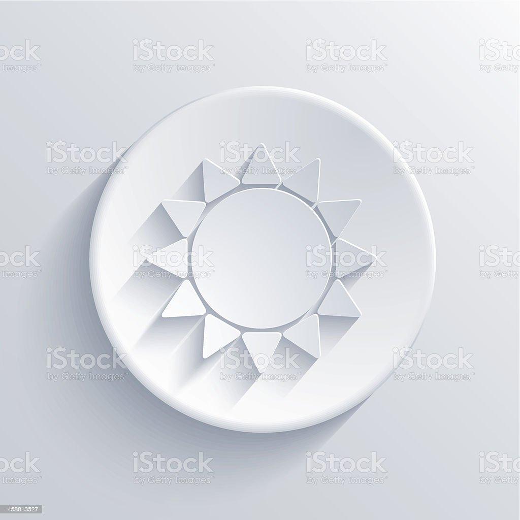 vector sun circle icon. Eps10 royalty-free stock vector art