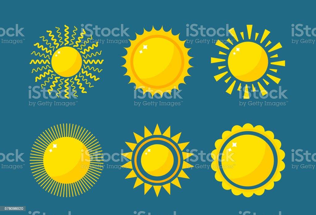 Vector sun icon isolated vector art illustration