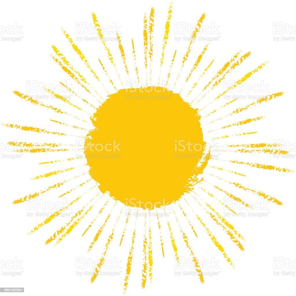 Vector sun symbol icon grunge element stock vector art more images vector sun symbol icon grunge element royalty free vector sun symbol icon grunge buycottarizona Images