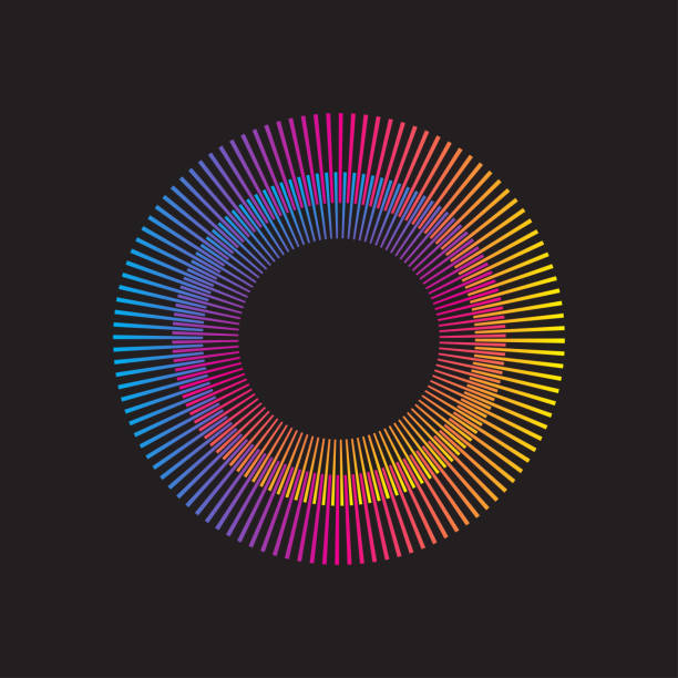 bildbanksillustrationer, clip art samt tecknat material och ikoner med vector sunburst - spektrum