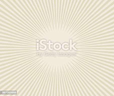 Line art vector sunburst