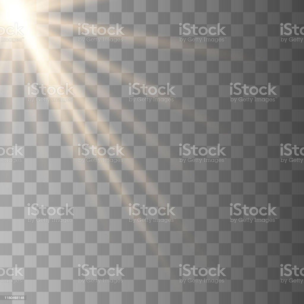 Vector sunlight lens flare light effect.