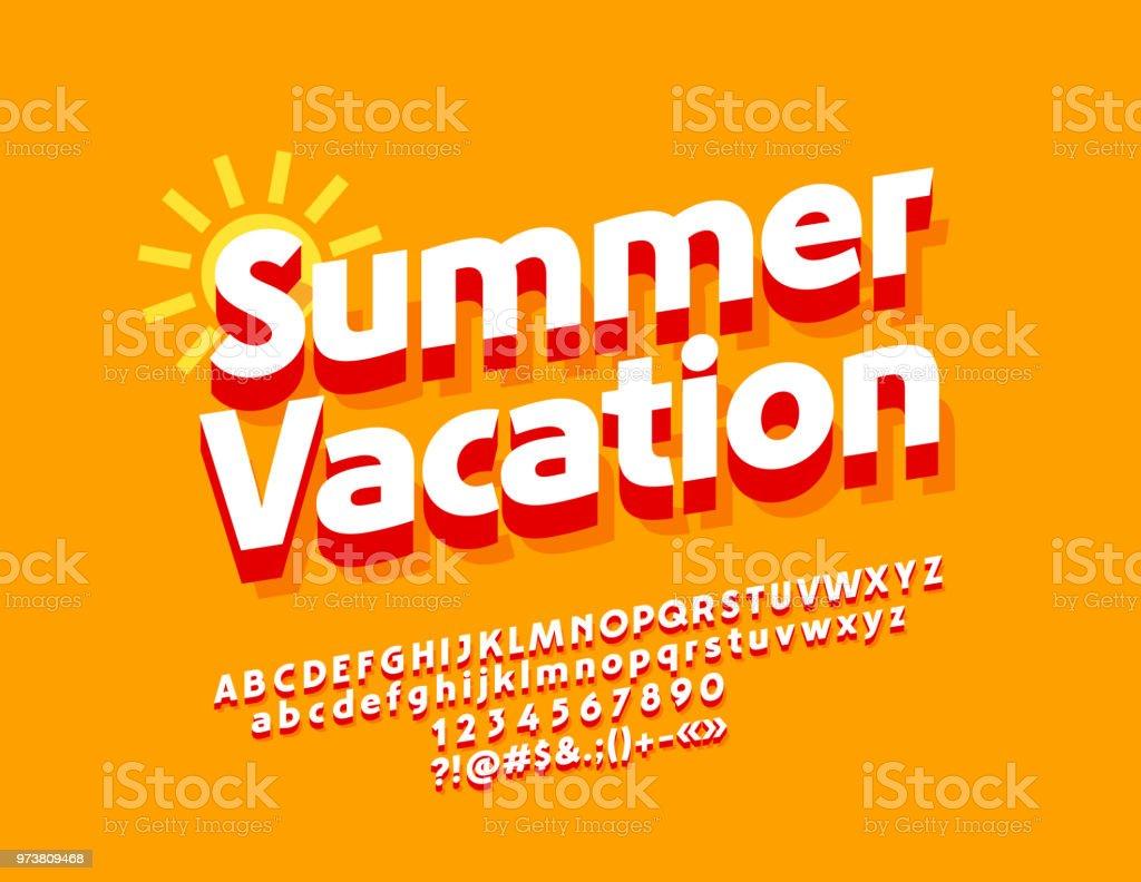 Vector Sunny Poster Summer Vacation
