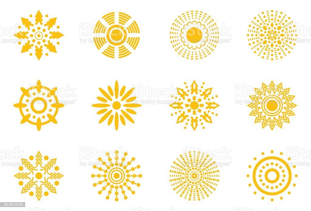 Vector Suns Icon vector art illustration