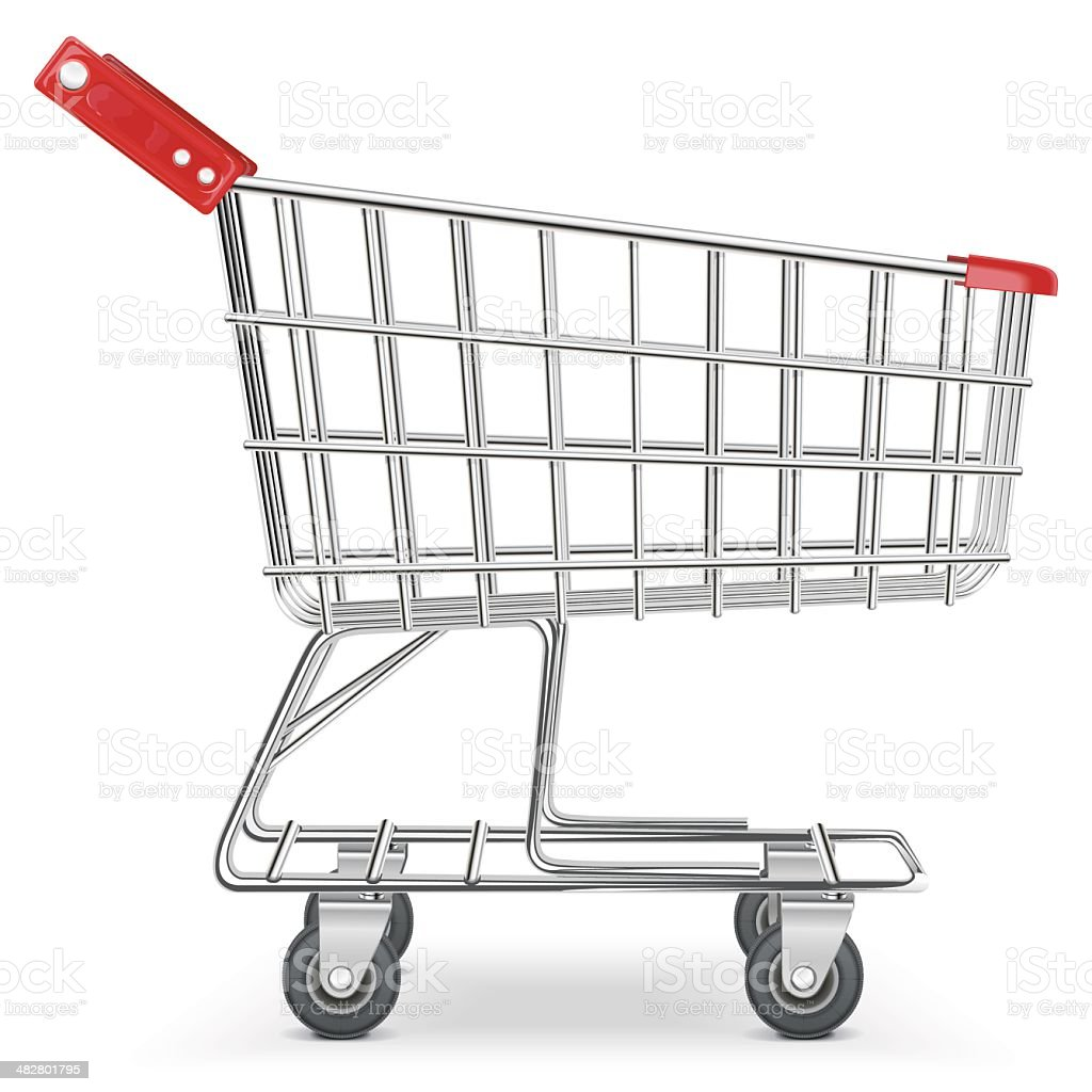 Vector Supermarket Cart vector art illustration