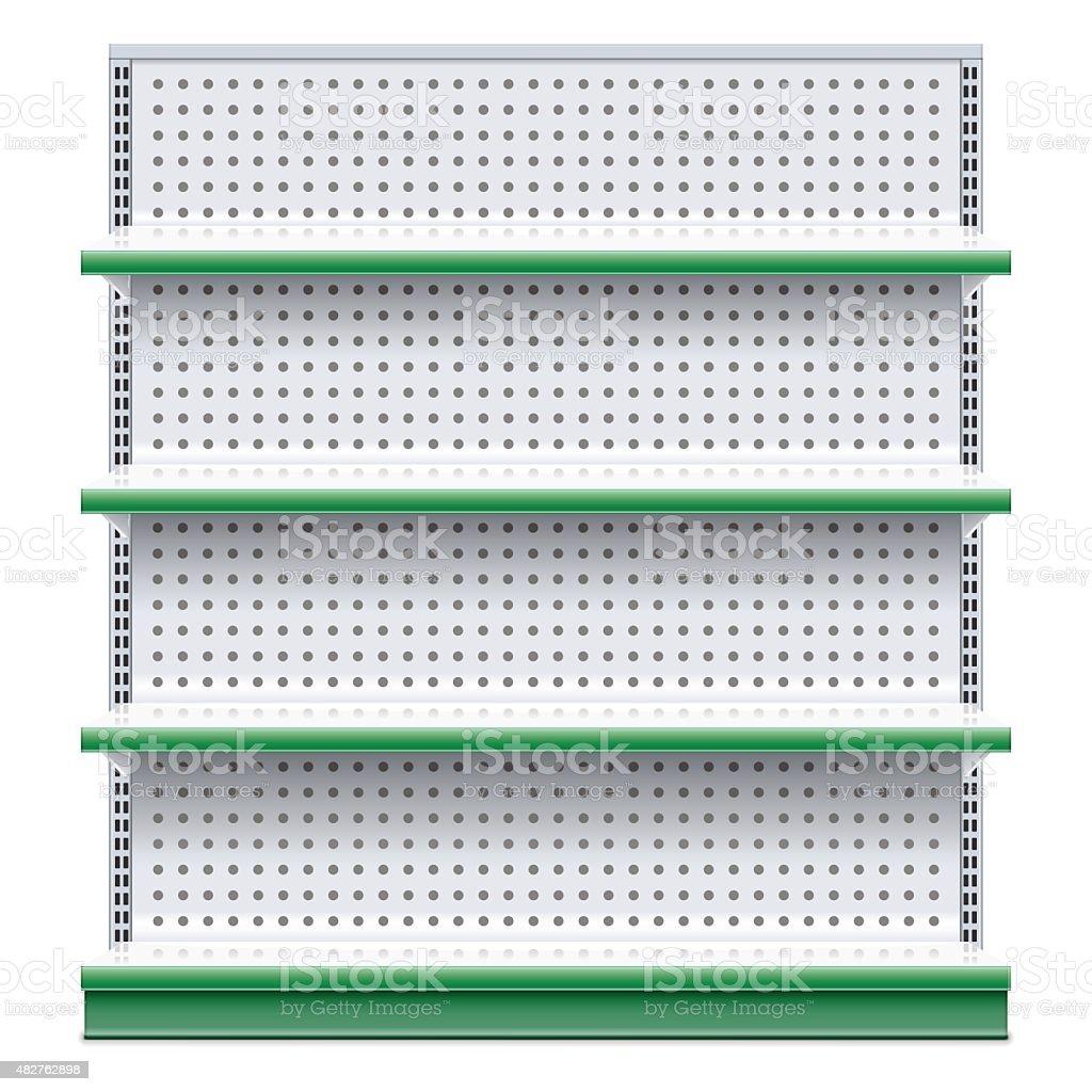 Vector Supermarket Rack vector art illustration