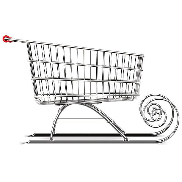 illustrazioni stock, clip art, cartoni animati e icone di tendenza di supermercato vettoriale slitta - negozio sci