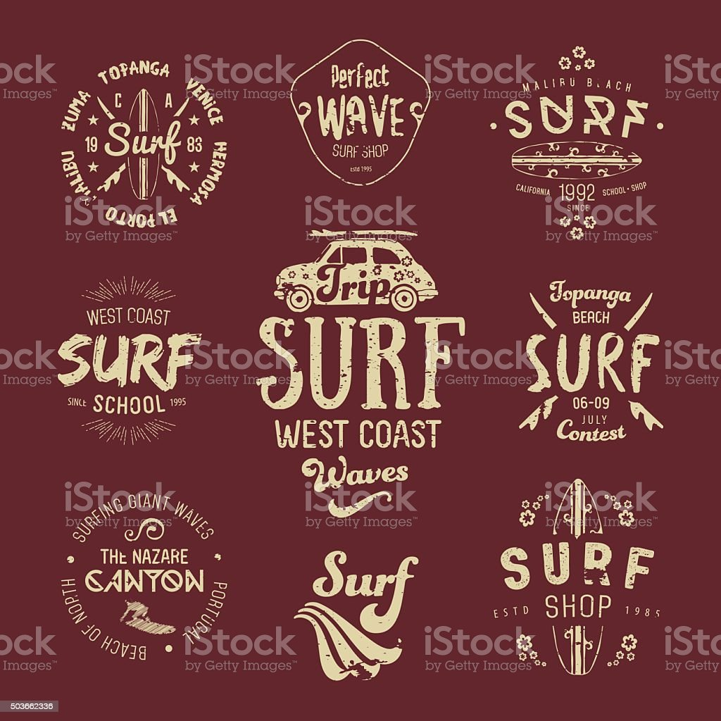 Vector Surf Graphics, California, Los Angeles typography, t-shirt, apparel design. vector art illustration