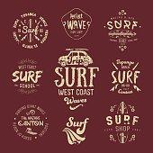 Vector Surf Graphics, California, Los Angeles typography, t-shirt, apparel design.
