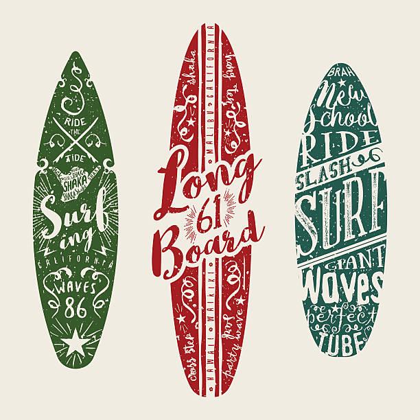 グラフィックベクトル波ます。surfboards 印刷の装飾を施しております。 - サーフィン点のイラスト素材/クリップアート素材/マンガ素材/アイコン素材