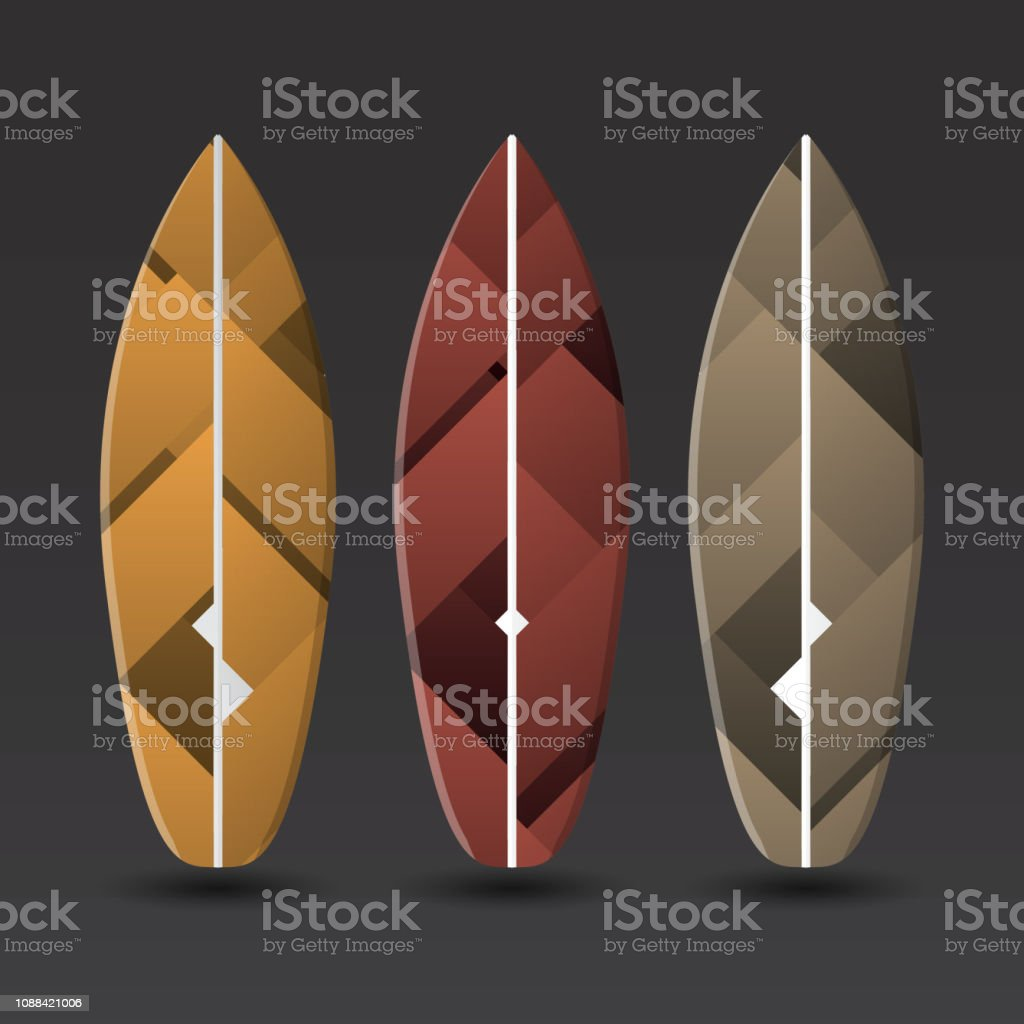 Vector Surfboards Design Template Stock Vector Art More Images Of