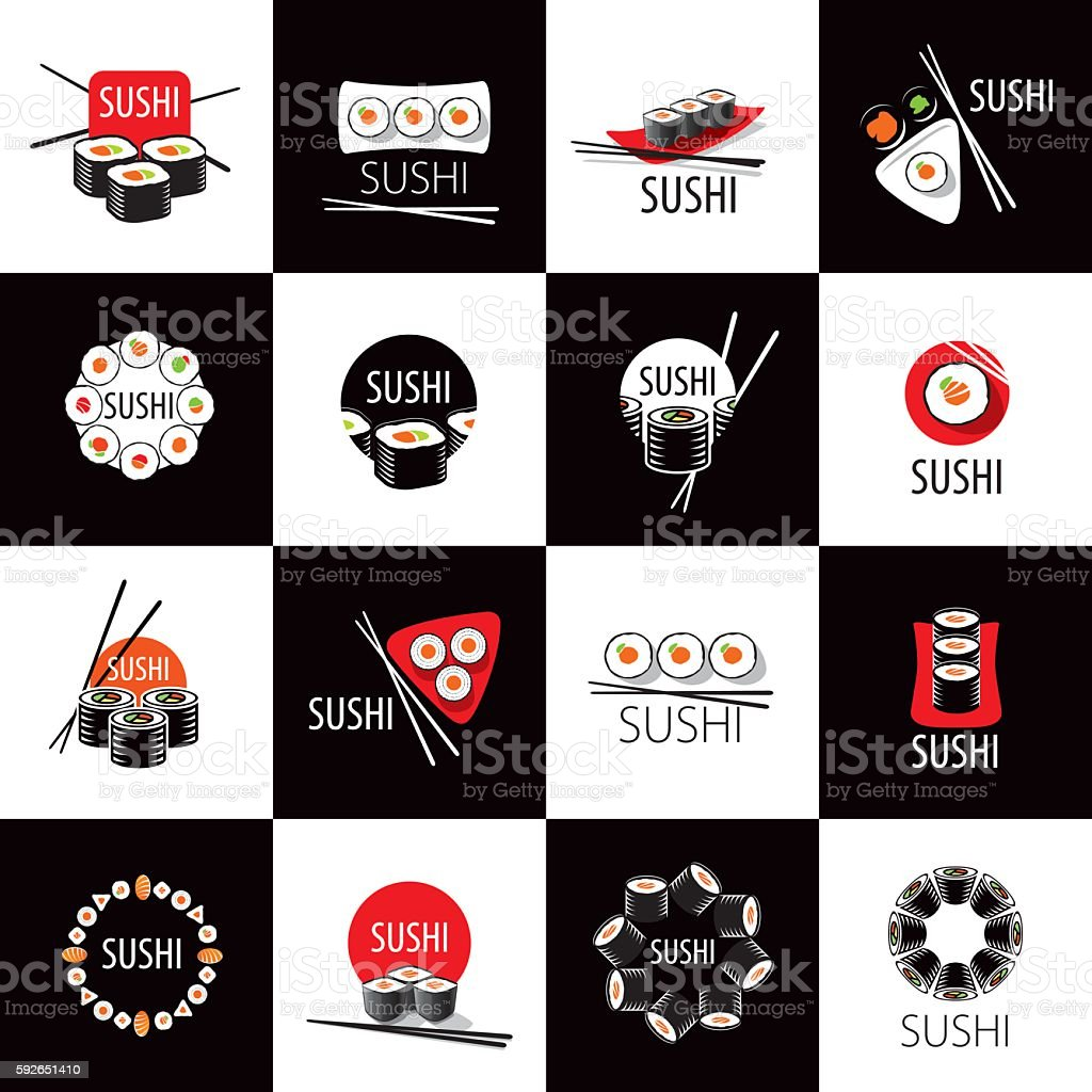vector sushi icon - ilustración de arte vectorial