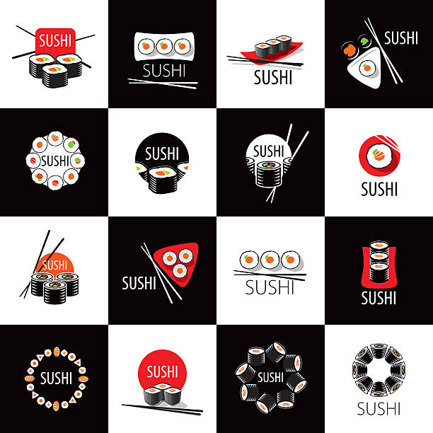 vector sushi icon - Illustration vectorielle