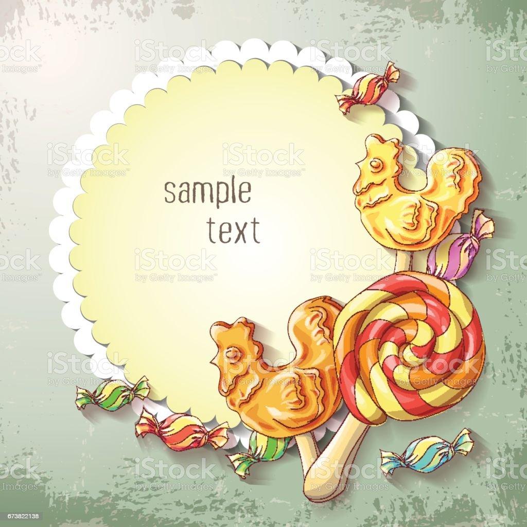 Lolipop ve karamel Banner vektör tatlılar. royalty-free lolipop ve karamel banner vektör tatlılar stok vektör sanatı & bayram - etkinlik'nin daha fazla görseli
