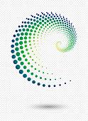 istock Vector swirl  dots pattern 1200676090