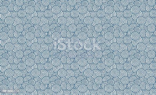 istock Vector swirl pattern (Chinese auspicious clouds) background textured 681666774