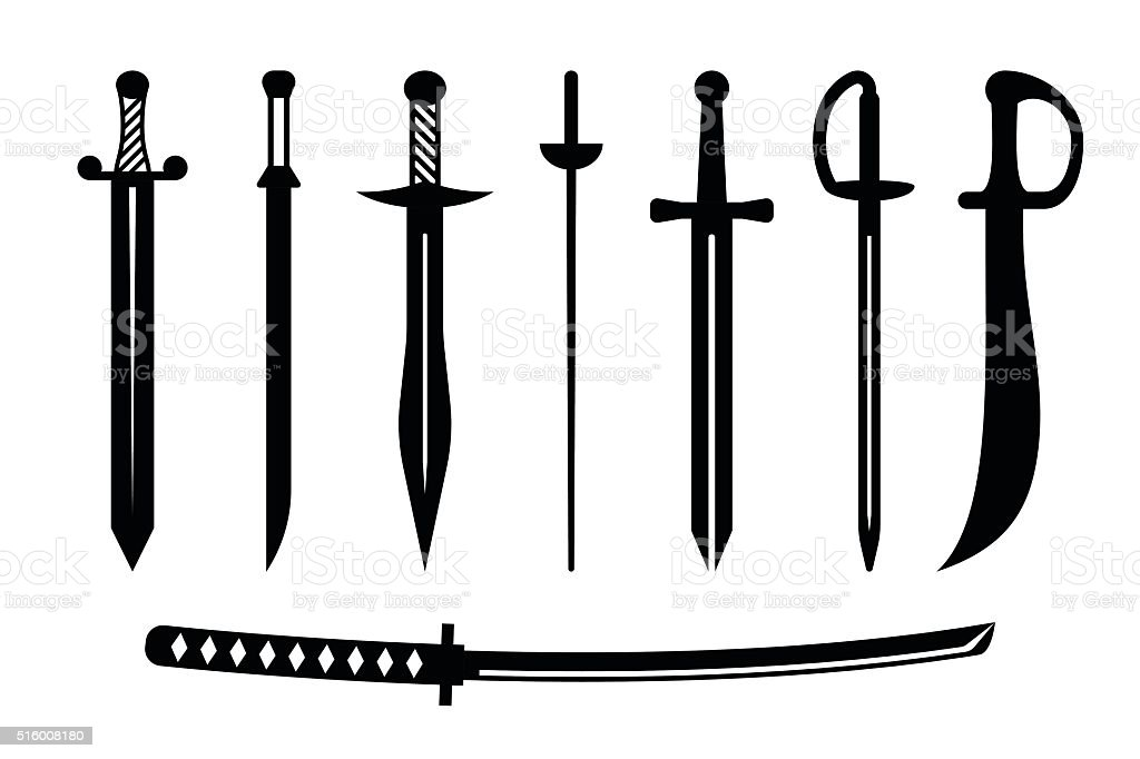 Vector sword ancient weapon design vector art illustration