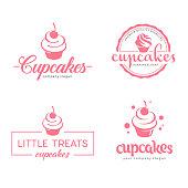 Vector symbol design. Cupcakes bakery icon