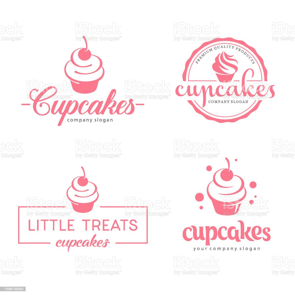 Vector symbol design. Cupcakes bakery icon vector art illustration