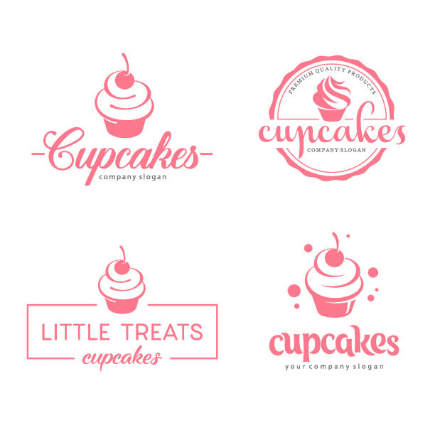 Vector symbol design. Cupcakes bakery icon Vector symbol design. Cupcakes bakery icon cake stock illustrations
