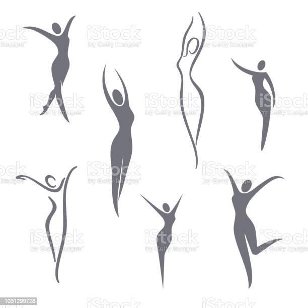 Éléments De Design Symbole Vecteur Jeu De Jeune Fille Vecteurs libres de droits et plus d'images vectorielles de Abstrait
