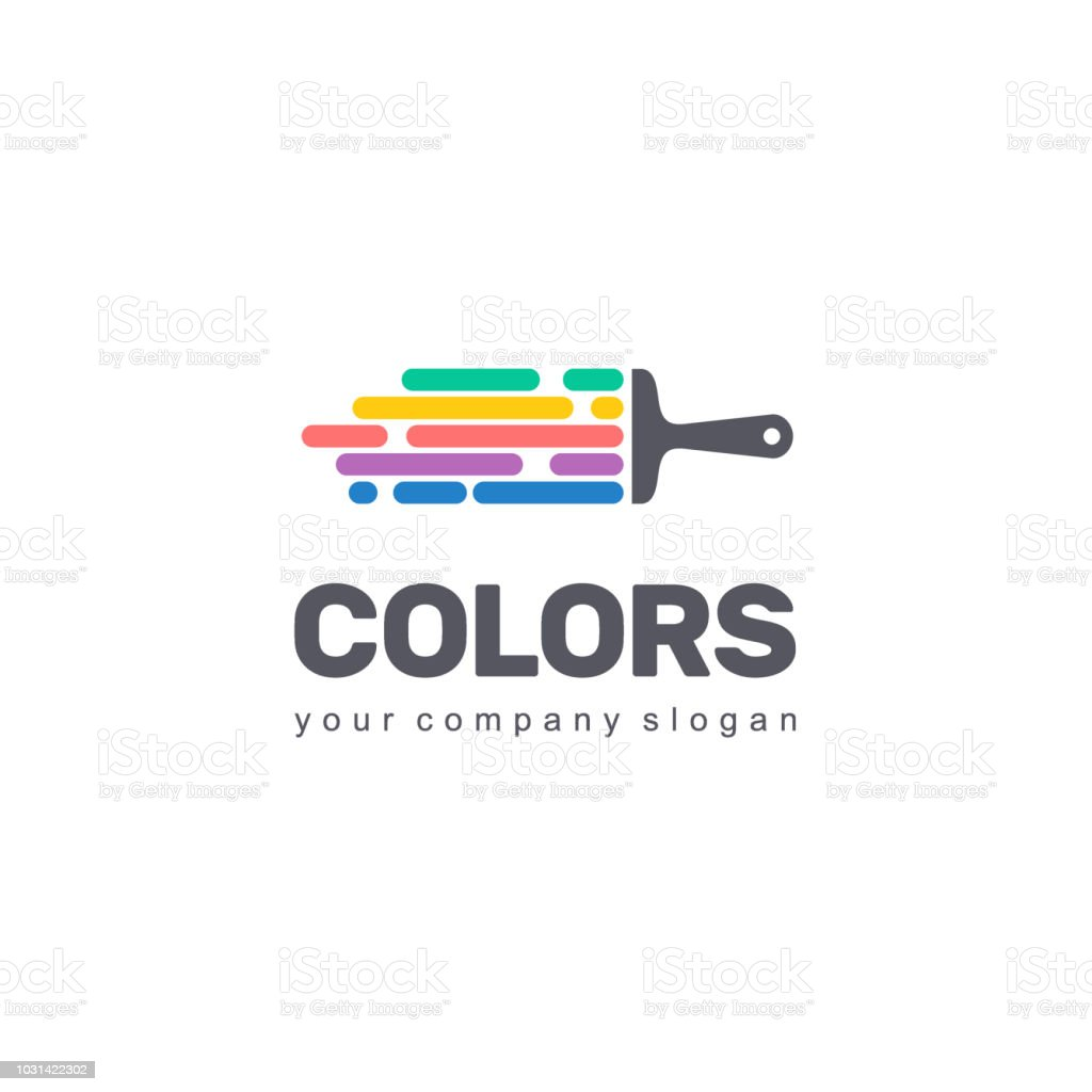 Vector symbol design of business. Colorful sign vector art illustration