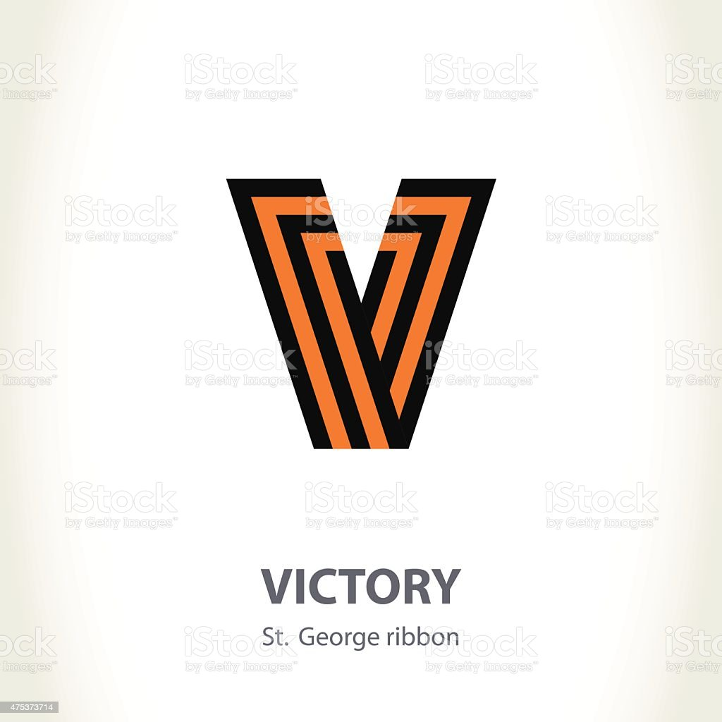 Vector Symbol For Victory Day Made Of St George Ribbon Stock Vector