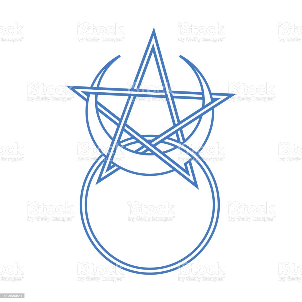Vector Symbol For Wiccan And Occult Esoteric Community Horned God