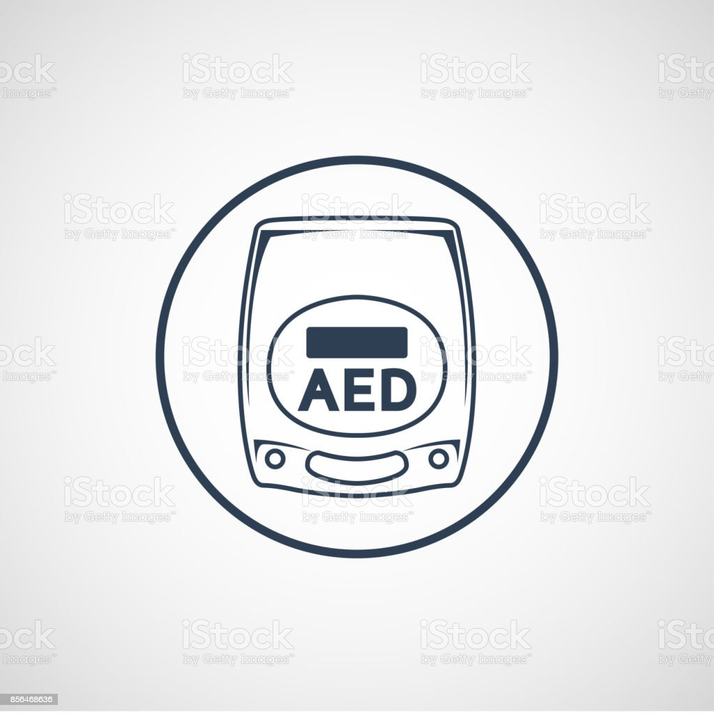 AED vector symbol icon illustration vector art illustration