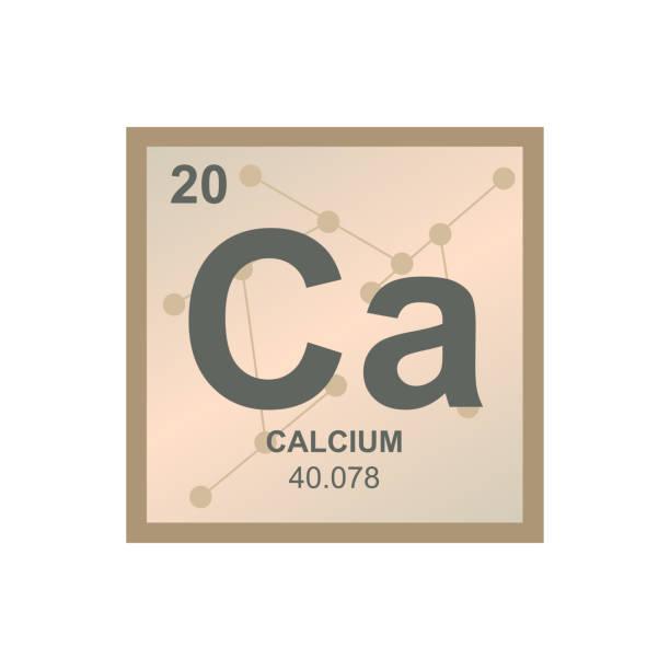stockillustraties, clipart, cartoons en iconen met vector symbool van calcium op de achtergrond uit verbonden moleculen - calcium