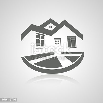 Vector Symbol Of Home House Icon Realty Silhouette Real Estate