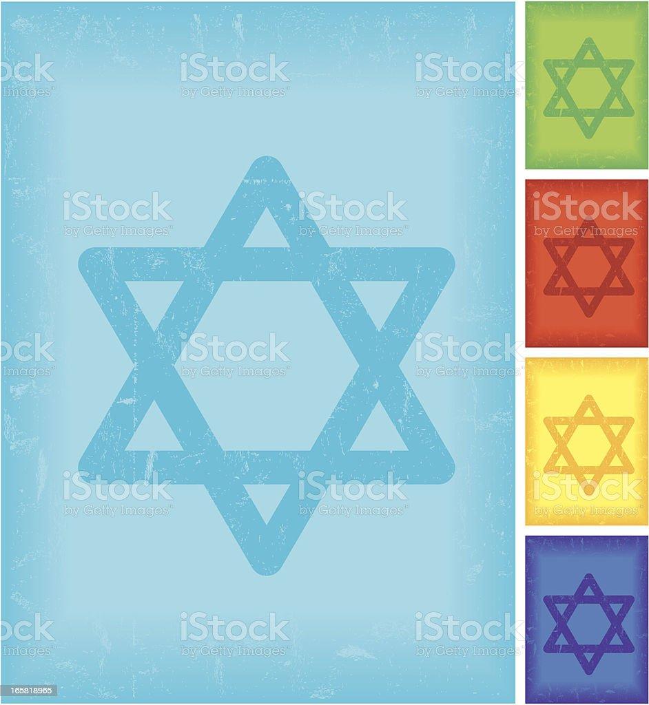 Vector Symbol of Judaism royalty-free stock vector art
