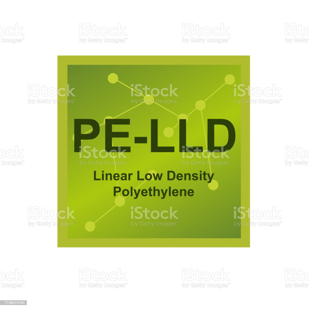 Vector Symbol Of Linear Low Density Polyethylene Lldpe Or Pelld Polymer On  The Background From Connected Macromolecules Stock Illustration - Download