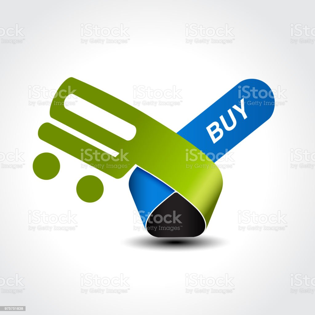 Vektor-Symbol der Warenkorb, Trolley, Element, button - Lizenzfrei Additionstaste Vektorgrafik