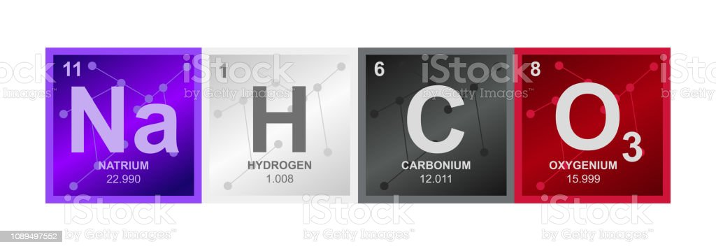 Vector symbol of Sodium carbonate Na2CO3 compound consisting of sodium, carbon and oxygen atoms and molecules vector art illustration