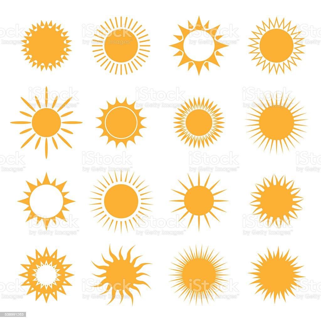 Vector symbol of sun vector art illustration
