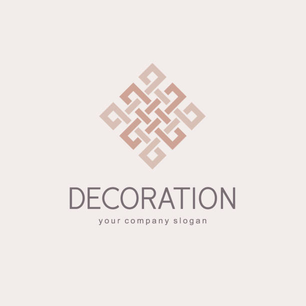 stockillustraties, clipart, cartoons en iconen met vector symbool sjabloon voor boutique hotel, restaurant, sieraden. luxe monogram. - interior design