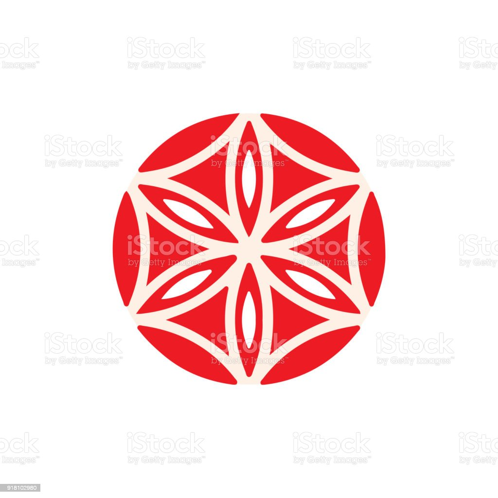 Vector Symbol The Flower Of Aphrodite Geometric Rose The Rose Of