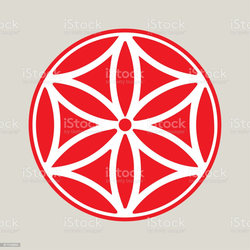 Vector Symbol The Flower Of Aphrodite Made Up Of Six Vesica