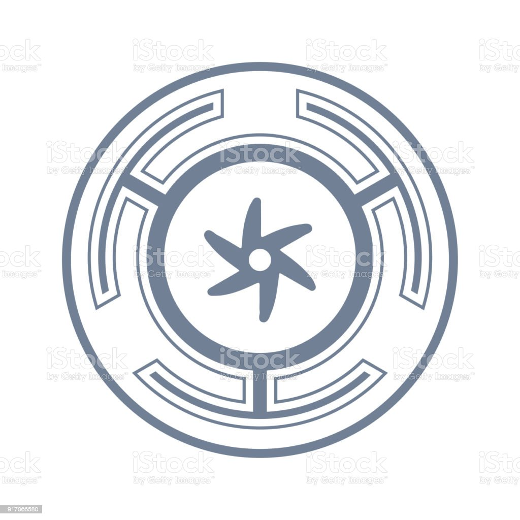 Vector Symbol The Strophalos Or Hecates Wheel Ancient Greek Symbol
