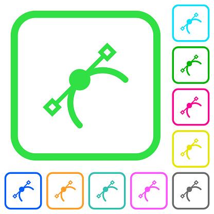 Vector symbol vivid colored flat icons