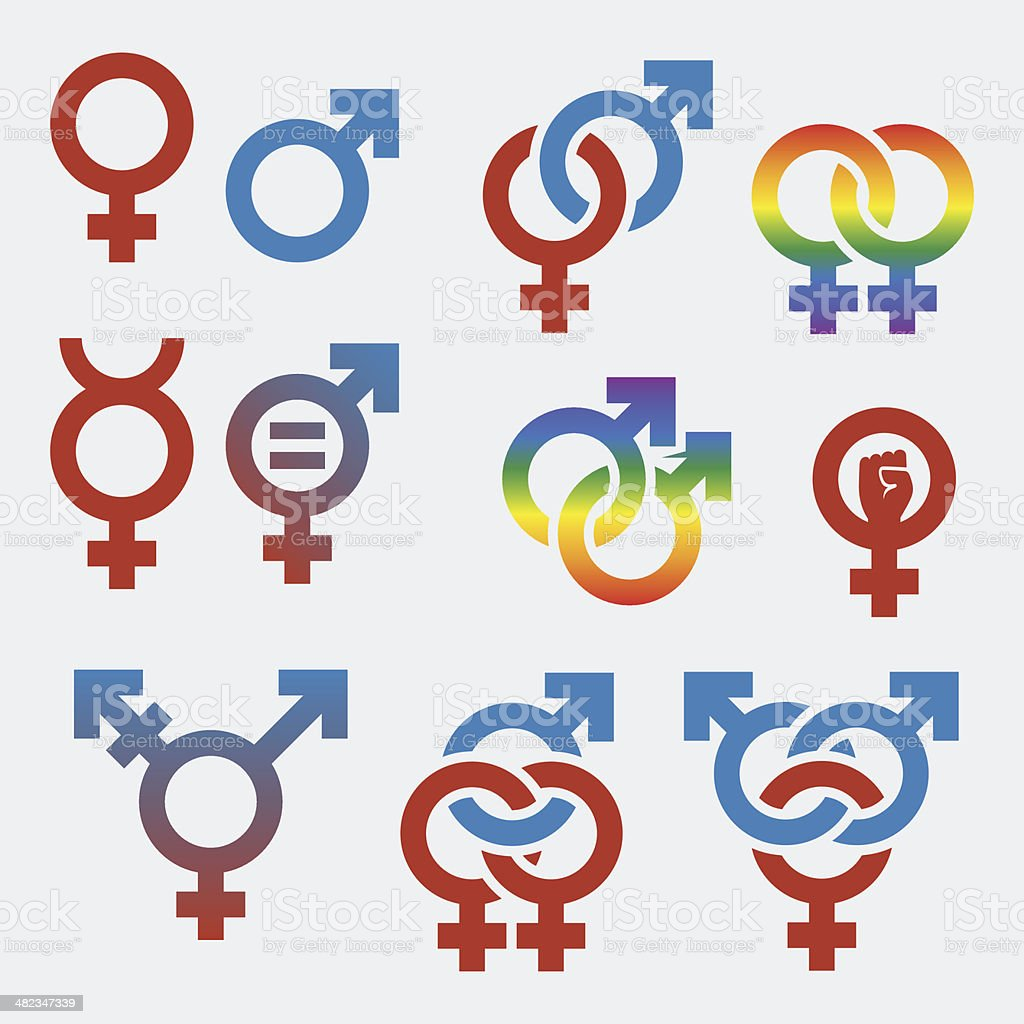 Vector symbols of sexual orientation and gender vector art illustration