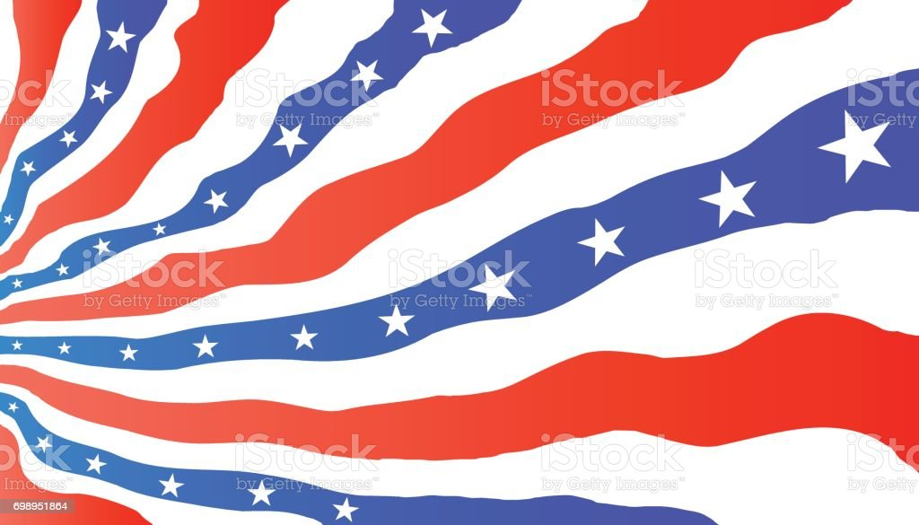 Vector Symbols Of The American Flag Stars And Stripes Stock Vector
