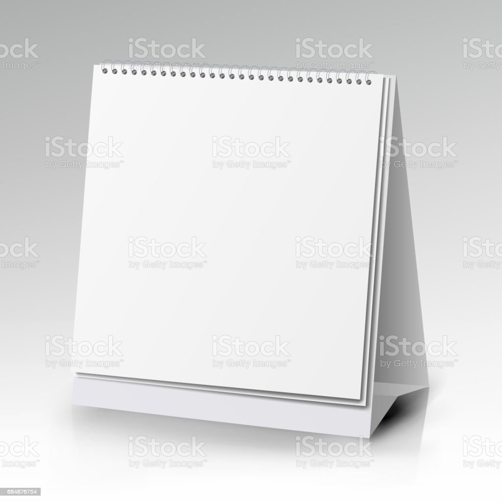 Vector Table Blank Stand Holder For Menu Paper Calendar Card Isolated On  White Background Stock Illustration - Download Image Now