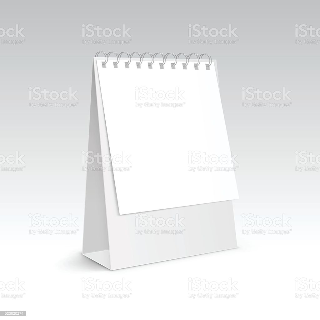 vector table blank stand holder for menu paper calendar card royalty free vector table blank