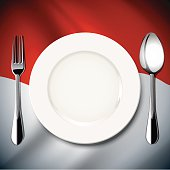 Vector  table setting on Indonesia flag background