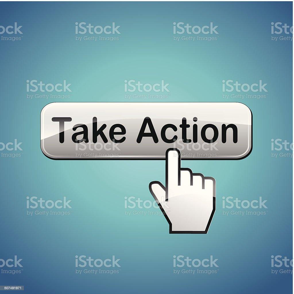 Vector take action button concept vector art illustration